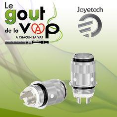 Deux types de têtes d'atomiseur sont disponibles pour votre Joyetech eGo ONE pour deux expériences de vape différentes, disponibles en 0.5 et 1.0 Ohm