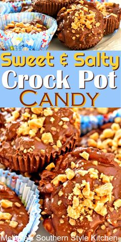Sweet and Salty Crock Pot Candy for holiday snacking and gift giving #crockpotcandy #candy #sweetandsalty #slowcookercandy #candyrecipes #christmascandy #holidayrecipes #chocolate #desserts #dessertfoodrecipes #dessertrecipes #southernrecipes #southernfood #melissassouthernstylekitchen