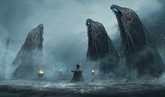 "morbidfantasy21: ""Ghost Cvlt – fantasy/horror concept by Ramses Melendez """