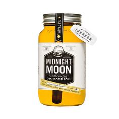 Junior Johnson's Midnight Moon Apple Pie Moonshine Packaged in a rustic and reusable mason jar, this apple pie moonshine is made from a legendary family recipe that dates way back to the Whiskey Rebellion of 1791. We think it's fair to say they've certainly mastered the recipe by this point.