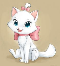 Marie (Aristocats) Disney art