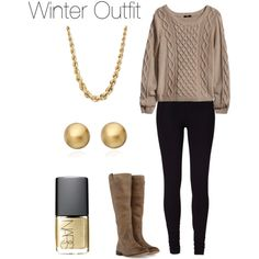 """""""Winter Outfit"""" switch leggings for skinny jeans"""