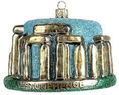 Stonehenge Travel Polish Glass Christmas Ornament