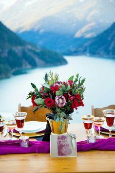 COLORFUL WEDDING INSPIRATION AT LAKE DIABLO IN WA STATE