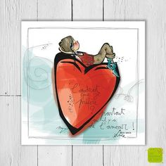 L'endroit que je préfère? Partout où il y a de l'amour - Carte postale illustrée par Myra Vienne - www.editionsdecortil.com