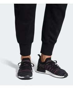 ae4eb5c84 Adidas NMD R1 STLT Primeknit Core Black Solar Pink Mens Shoes Cheap Adidas  Nmd