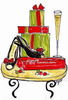 Cheers to the Holidays by Fifi Flowers