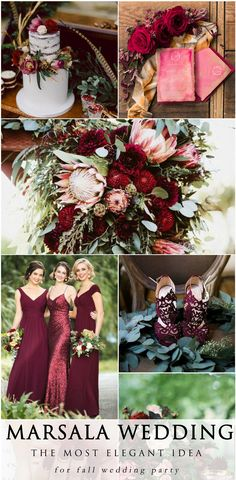 The most beautiful ideas in Marsala color scheme. This extremely beautiful and rich shade can be incorporated into your wedding bouquet, invitations and stationery or even your wedding dress. Marsala is the most popular wedding color for the coming autumn and winter seasons #wedding #elegant | wedding cake: Cornwell Manor Winter Wedding Cotswolds Chris Scuffins Photography, Flowers: by With Love & Embers AND Little Big Farm, Photography: Ryon:Lockhart Photography & Photography – Vic…