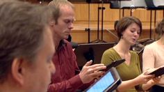 A two-minute video (in Dutch and French) of the Flemish Radio Choir using Samsung Galaxy Note tablets in rehearsal. The tablets are running the neoScores app. At one of the singers demonstrates annotation on the tablet. Galaxy Note 10, Ipads, Singers, Dutch, Sheet Music, Samsung Galaxy, French, App, Running