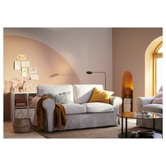 EKTORP Lofallet beige, Two-seat sofa. Our beloved EKTORP seating has a timeless design and wonderfully thick, comfy cushions. Loveseat Covers, Couch And Loveseat, Black Loveseat, Loveseat Slipcovers, Small Couch In Bedroom, Small Living Rooms, Ikea Ektorp, Loveseats For Small Spaces, Loveseats