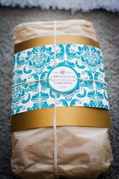 Banana bread loaf wrapped into a gift perfect for the fall and winter. Add a