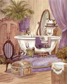 Victorian bathroom --- looks like we might need a claw foot tub after all. :)