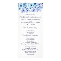 Modern Spring Violets Wedding Program - spring gifts beautiful diy spring time new year