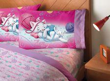 New Girl Disney Purple Lilac Pink Disney Kitten Cat Marie Yarn Bedding Sheet Set