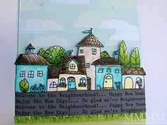 CLOSE Squigglefly digital houses image Whimsy Town by mel stampz by melstampz, via Flickr