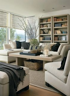 33 Beige Living Room Ideas: 36 Light Cream And Beige Living Room Design Ideas Cream Living Rooms, Home Living Room, Living Room Designs, Living Room Decor, Living Spaces, Ivory Living Room, Dog Spaces, Sweet Home, Living Room Inspiration