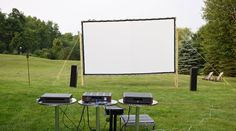 """""""Wow, what a great screen! Easy to assemble and the image was outstanding, as good as screens which cost many times more. I still can't believe I have a theater in my back yard, so cool!"""" —Debra K. 