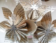 Paper flowers made from book pages so clever art paper arts paper flowers made from book pages so clever art paper arts crafts pinterest beloved book clever and craft mightylinksfo