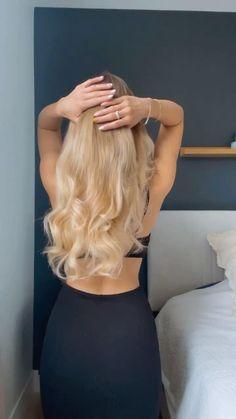 Easy Hairstyles For Long Hair, Long Wavy Hair, Everyday Hairstyles, Hair Down Hairstyles, Long Hair Updos, Long Blonde Hairstyles, Cute Hairstyles Updos, Hairstyle Hacks, Hairstyle Tutorials