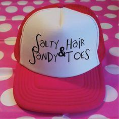ee32559b4fa Salty Hair   Sandy Toes Trucker Cap. Mermaid Hat. Vacation Hat. Beach Hat