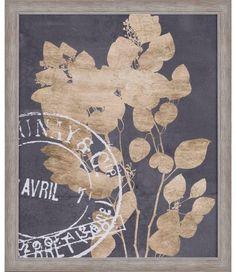 Postage Leaves III by Goldberger Framed Graphic Art Painting Frames, Painting Prints, Art Prints, Reclaimed Wood Frames, Travel Wall Art, Frames On Wall, Framed Wall, Outdoor Art, Wall Art Sets
