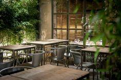 Saporem: cenar en un patio iluminado, Madrid