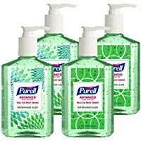 4 Pack Purell Advanced Design Series Hand Sanitizer 8 Oz Bottles