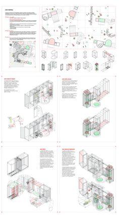 Isabel Gutierrez sanchez - System of temporary -use domestic equipment for Lavapies neighbourhood