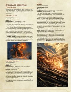 dnd-5e-homebrew: Magic: The Gathering Temur Clan Spells and...