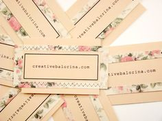 business cards I have sewn :] Neat idea, maybe too time consuming though.