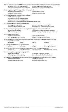 K TO 12 GRADE 4 DIAGNOSTIC / PRE TEST IN MAPEH Step Test, Rhythmic Pattern, Loom Bands, Physical Fitness, Food, Rubber Bands, Essen, Meals, Loom Bracelets