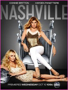 I love this show!  Nashville is American new musical drama television series. This series is created by Academy Award winner Callie Khouri and this produced by R.J. Cutler, Khouri, Dee Johnson, Steve Buchanan and Connie Britton. This series premierd on ABC on Octobor 10,2012, at 10/9 central..........