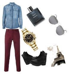"""""""Untitled #4"""" by queer0 ❤ liked on Polyvore featuring Brunello Cucinelli, Dolce&Gabbana, Timberland, Rolex, Chanel, Yves Saint Laurent, men's fashion and menswear"""
