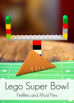 While I am opposed to this family being Packer Fans, this could be a fun activity at Lego Sunday during football season. Lego Super Bowl with Folded Paper Footballs - Fireflies and Mud Pies