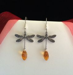 Outlander Inspired Dragonfly Earrings  by TheMagpizeNest on Etsy