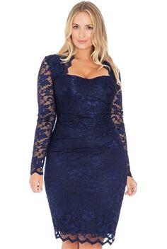 Timeless Navy Lace #Dress - #Curvy Range
