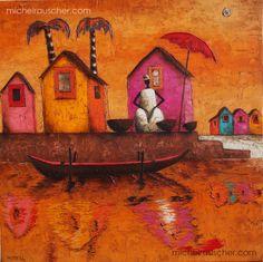 Michel RAUSCHER | Peintures - Huile sur toile - Sans titre-60 x 60