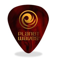 25 pack Extra Heavy Wide Shape Planet Waves White Pearl Celluloid Guitar Picks