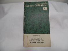 Vintage John Deere Pocket Notebook Unused #JohnDeere