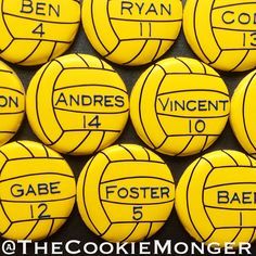 Water Polo Cookies ~ The CookieMonger ~ We can turn any idea into awesome cookies!  Email thecookiemonger@outlook.com.