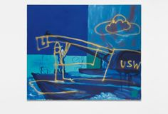 MARTIN KIPPENBERGER Untitled (from the series Krieg Böse/War Wicked), 1991 oil, spray paint on canvas 250.2 x 300 cm (98 1/2 x 118 1/8 in.) l  PHILLIPS