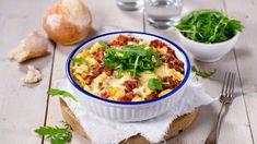 Pastagrateng Norwegian Food, Norwegian Recipes, Pasta, Cheeseburger Chowder, Mashed Potatoes, Macaroni And Cheese, Tin, Spaghetti, Curry