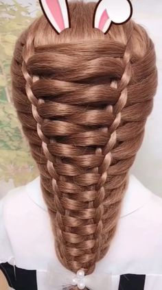 Hairstyle Tutorial # simple Braids with weave Hairstyle Tutorial Easy Hairstyles For Long Hair, Braids For Long Hair, Cute Hairstyles, Wedding Hairstyles, Braids For Girls, Hairstyle For Girls Video, High School Hairstyles, Girls Hairdos, Fashion Hairstyles