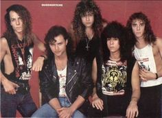 Queensryche - Okay, I could've been MUCH meaner than this.  Queensryche have looked like everything from a Seattle Band (which they are) to a Biker Band, to a New Wave Band.  Operation Mindcrime is a KILLER album, to this day.