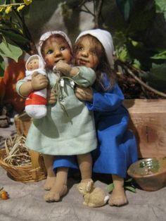 Puppenkinder in Textil aus dem Allgäu