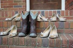 Great American Country showcases some of the best photos of brides in boots.