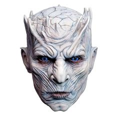 Night King Mask Game Thrones White Walker Halloween Adult Costume Accessory Game of Thrones Season 7 Night's King White Walkers Men Full Head Undead Mask Material:Rubber Size:head circumference about 62 cm