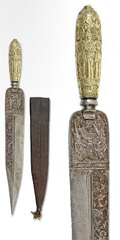 A hunting knife, Italy, ca. 18th century.