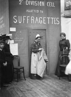 Only 100 years ago - Suffragette in prison for demanding the right to vote! Women Suffragette, Women Right To Vote, Suffrage Movement, Brave Women, Badass Women, Women In History, Historical Photos, Strong Women, Women's Rights
