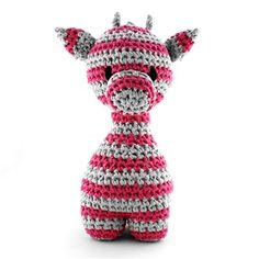 DIY Crochet Kit Giraffe Striped Green  Pattern not free and not in English.